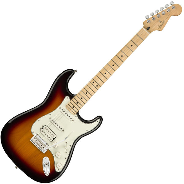 Fender 0144522500 Player Stratocaster Electric Guitar HSS Maple Neck in 3 Tone Sunburst