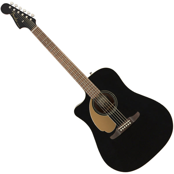 Fender Redondo Player Left Hand Acoustic Electric in Jetty Black - 970718506