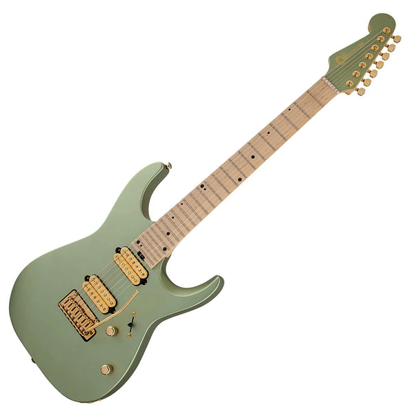 Charvel Angel Vivaldi Dinky DK24 - 7 String NOVA Maple Electric Guitar in Satin Sage Green - 2979411578