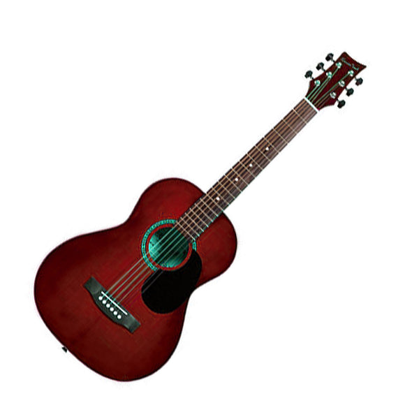 Beaver Creek BCTD601TR 3/4 Size Acoustic Guitar in Transparent Red