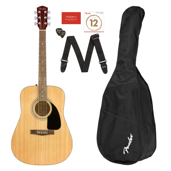 Fender FA-115 Dreadnought Acoustic Guitar Pack in Natural - 971210721