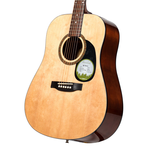 Beaver Creek BCTD101 Dreadnought Acoustic Guitar in Natural