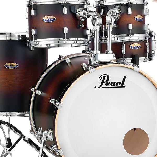 Pearl DMP925SPC260 Decade Maple 5 Piece Shell Pack in Satin Brown Burst