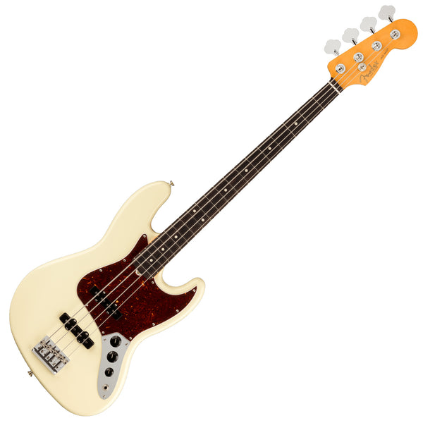 Fender American Professional II Jazz Bass Guitar Rosewood Olympic White w/Case - 0193970705