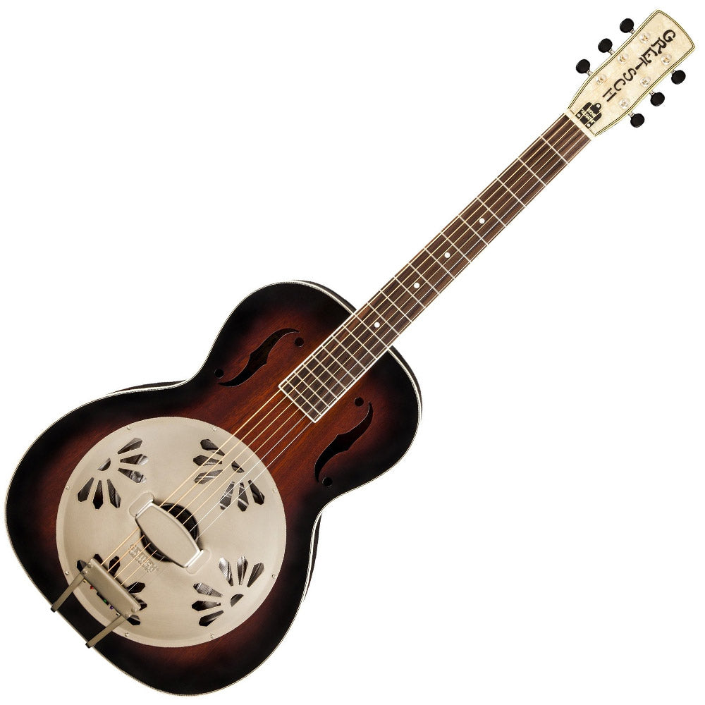 Gretsch Alligator Biscuit Round Neck Resonator Guitar Two Tone Sunburst - G9240