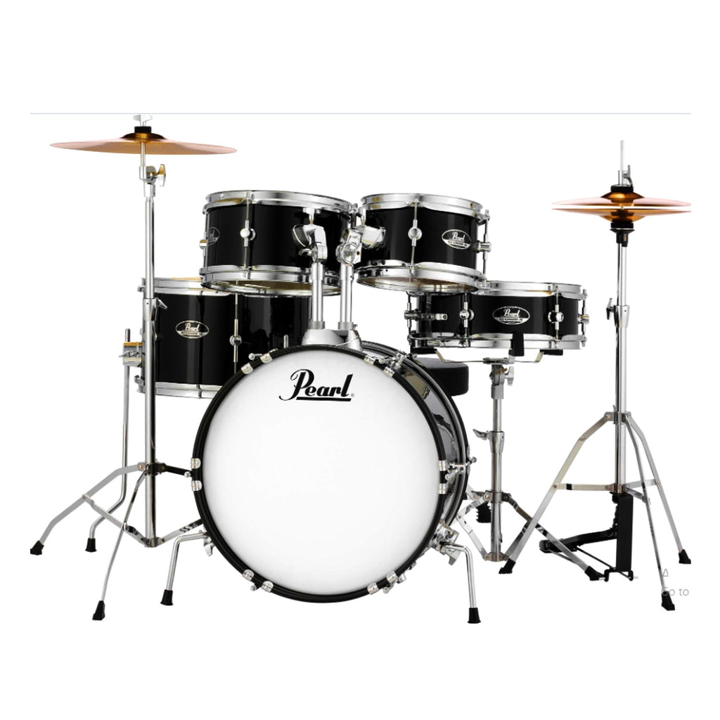 Pearl 5 Piece Roadshow Junior Complete Drum Kit w/Stands and Cymbals in Jet Black - RSJ465CC31