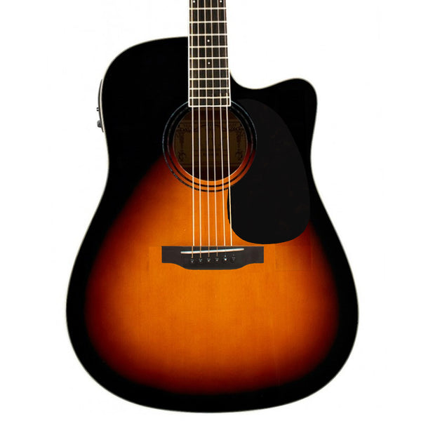 Beaver Creek BCTD101CEVSB Dreadnought Cutaway Acoustic Electric in Vintage Sunburst