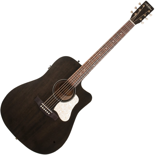 Art & Lutherie Americana Cutaway Acoustic Electric in Faded Black - 42463