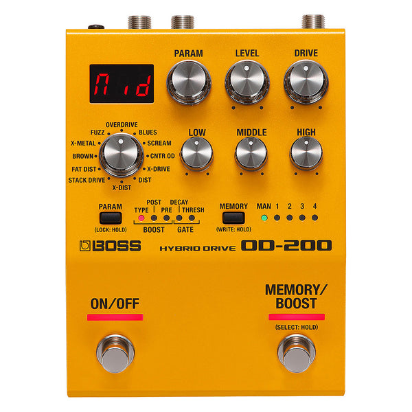 Boss OD200 Hybrid Drive Overdrive Effects Pedal