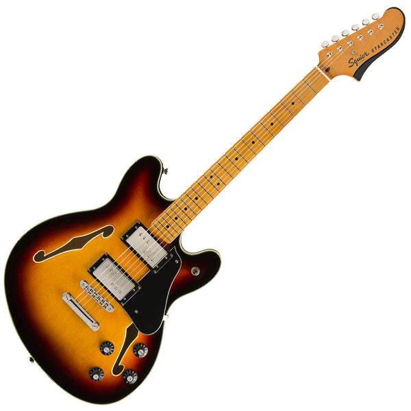 Squier Classic Vibe Starcaster Semi Hollow Body Electric Guitar Maple in 3-Color Sunburst - 0374590500
