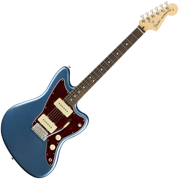 Fender 0115210302 American Performer Jazzmaster Electric Guitar Rosewood in Satin Lake Placid Blue w/Bag