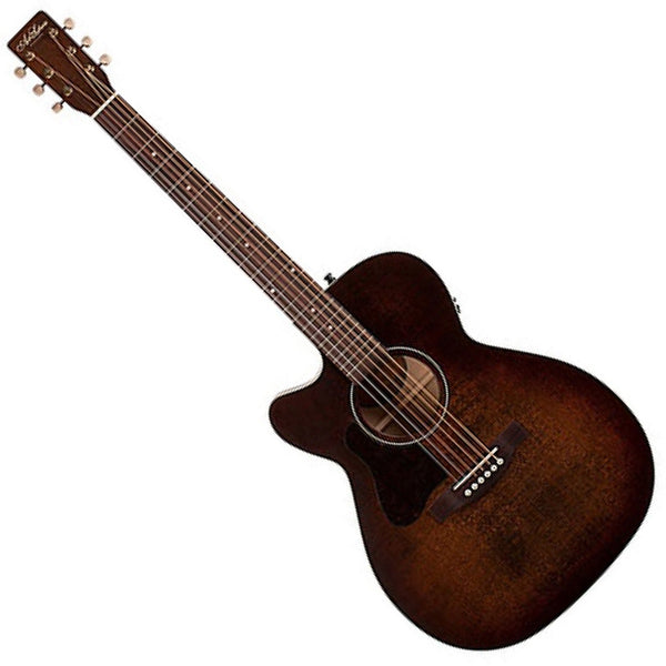Art & Lutherie 042715 Left Handed Legacy Cutaway Acoustic Electric in Bourbon Burst