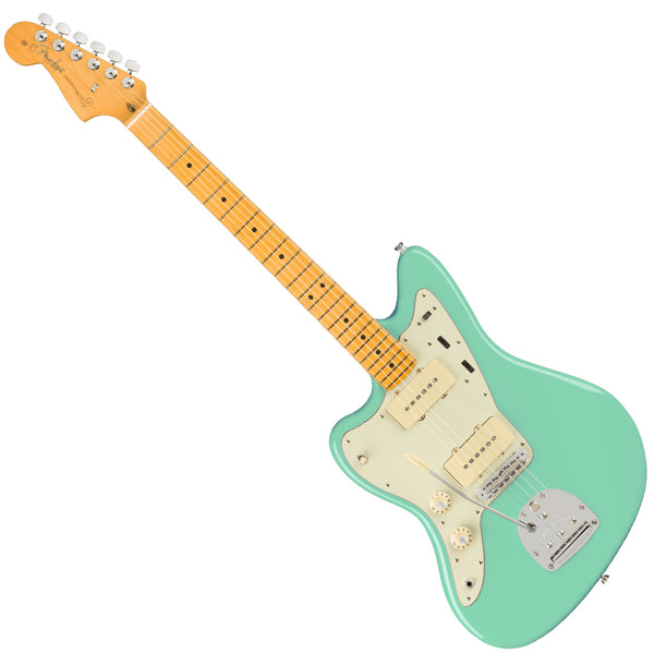 Fender Left Hand American Professional II Jazzmaster Electric Guitar Maple in Mystic Surf Green w/Case - 0113982718