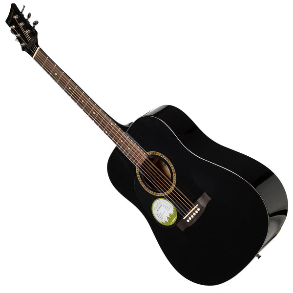 Beaver Creek BCTD101LBK Left Hand Dreadnought Acoustic Guitar in Black