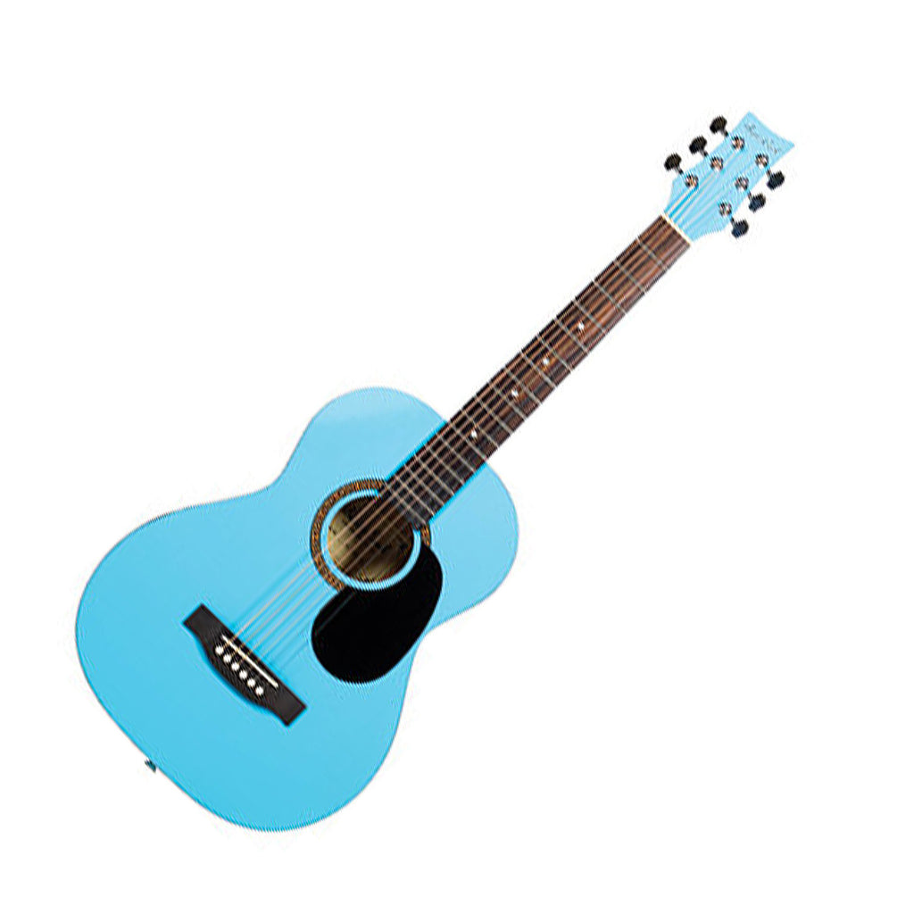 Beaver Creek BCTD601PBL 3/4 Size Acoustic Guitar in Light Blue