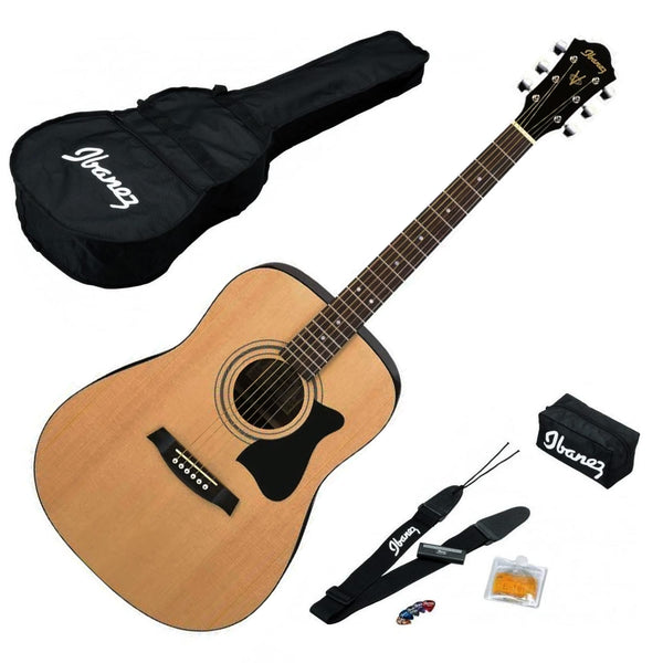 Ibanez Acoustic Guitar Jam Pack in Natural - V50NJPNT