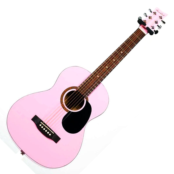 Beaver Creek BCTD401PK 1/2 Size Acoustic Guitar in Pink with Bag