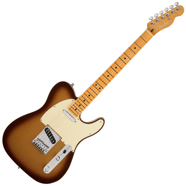 Fender American Ultra Telecaster Electric Guitar Maple in Mocha Burst with Case - 118032732