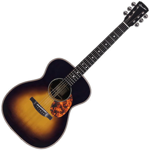 Boucher Studio Goose OM Acoustic Guitar Burst Pack Brazilian Mahogany Adirondack in Sunburst  with Case - SG41B