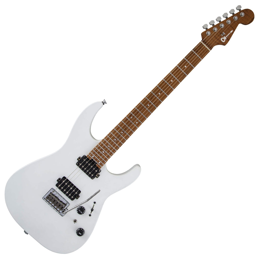 Charvel USA Select Dinky DK24 HH 2PT Maple Electric Guitar in Satin White - 2839412776