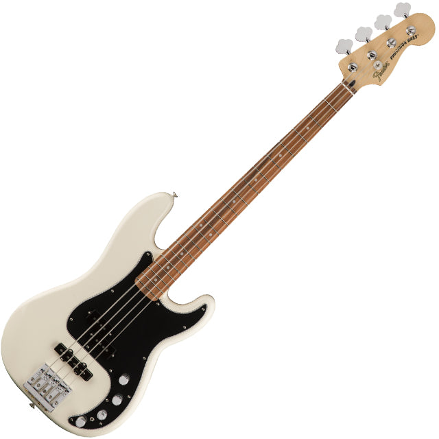 Fender 0143413305 Deluxe Active Precision Bass Guitar Special in Olympic White
