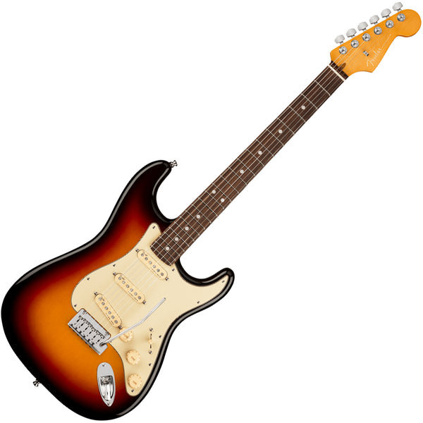 Fender American Ultra Stratocaster Electric Guitar Rosewood in Ultraburst with Case - 118010712