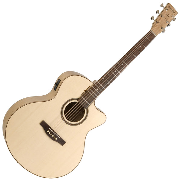 Simon & Patrick Natural Elements Mini Jumbo Acoustic Electric Amber Trail Maple Semi Gloss - 36363