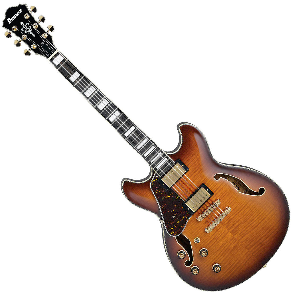 Ibanez AS93FMLVLS Artcore Expressionist Left Handed Semi Hollow Body Electric Guitar in Violin Sunburst