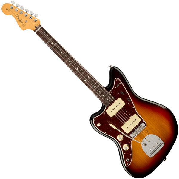Fender Left Hand American Professional II Jazzmaster Electric Guitar Rosewood 3-Tone Sunburst w/Case- 0113980700
