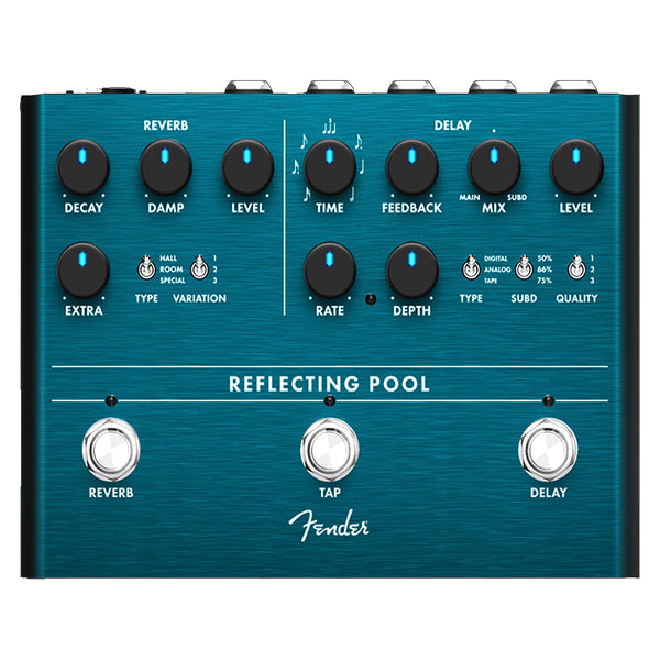 Fender 234546000 Reflecting Pool Delay and Reverb Effects Pedal