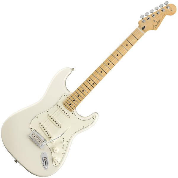 Fender 0144502515 Player Stratocaster Electric Guitar Maple Neck in Polar White