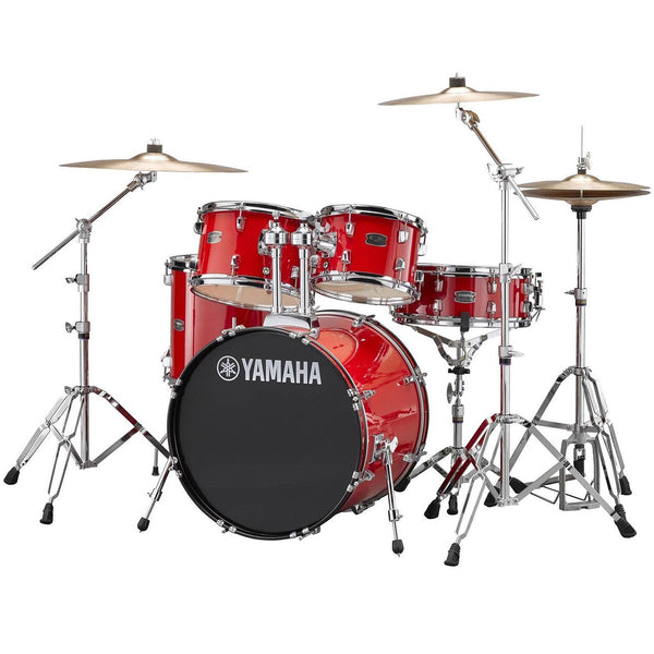 Yamaha Rydeen 5 Piece Drum Kits in Hot Red with Hardware and Cymbals - RDP2561RD