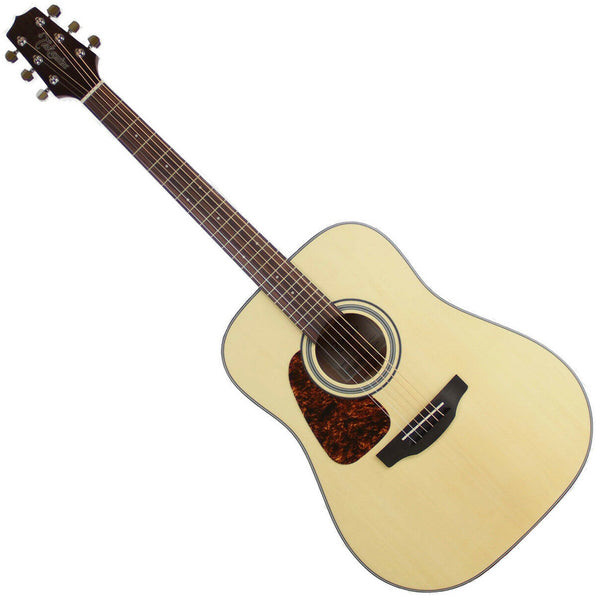 Takamine Left Hand Acoustic Guitar Dreadnought Solid Spruce Top in Natural - GD10LHNS