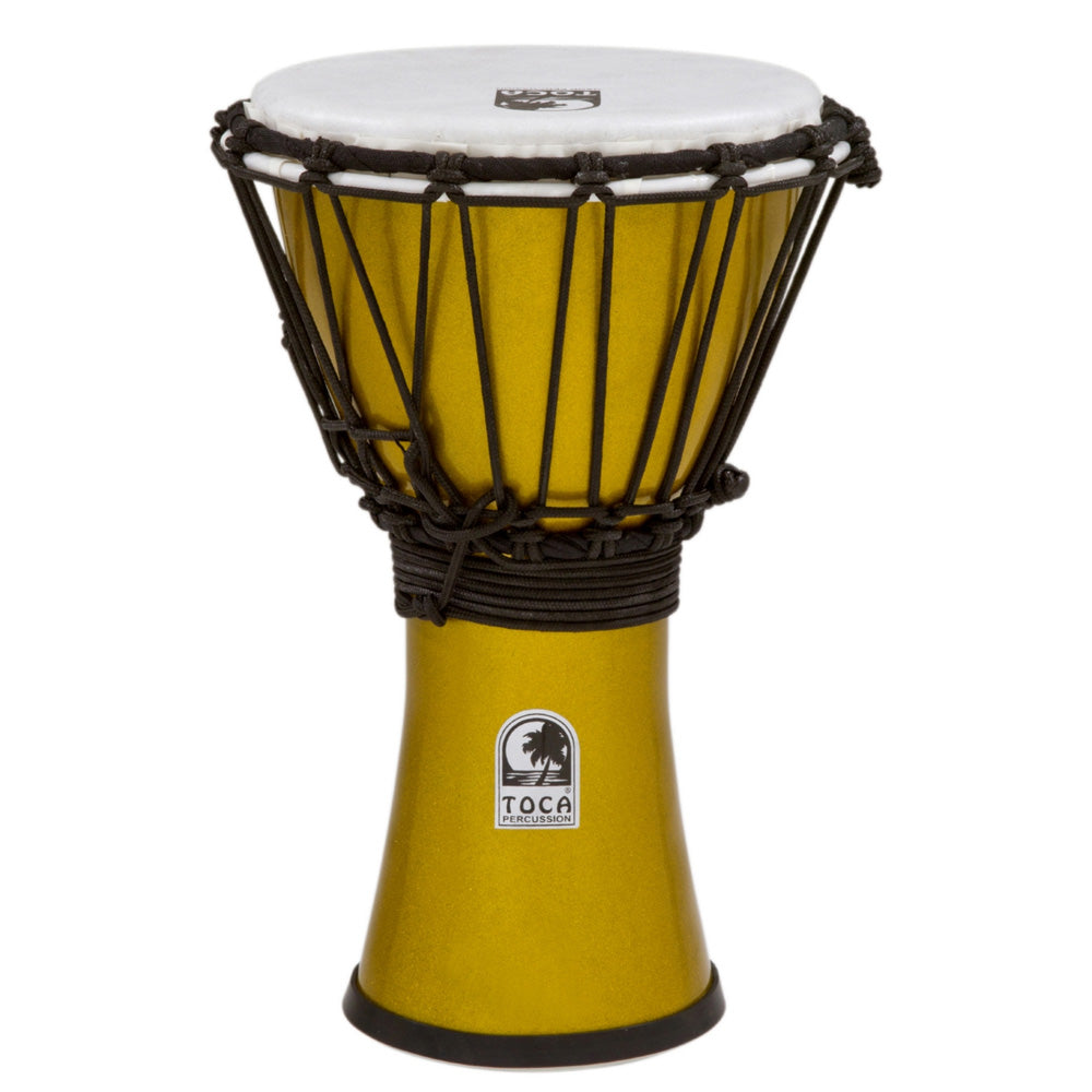 Toca TFCDJ7MY 7 Freestyle II Metallic Yellow Djembe
