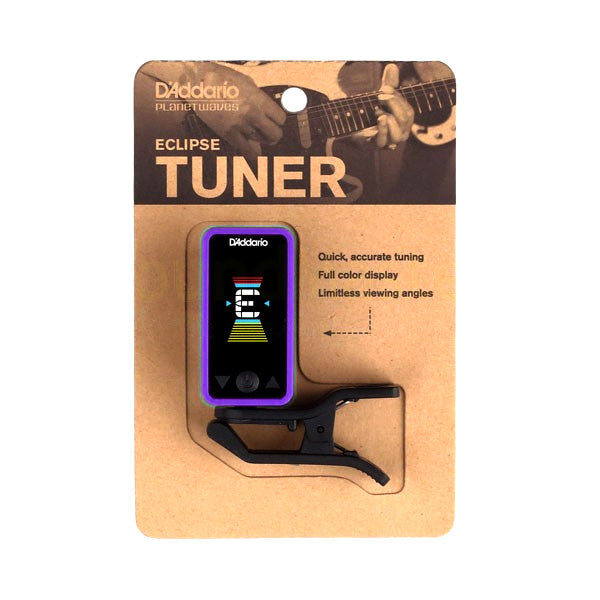 Planet Waves PWCT17PR Eclipse Chromatic Guitar Tuner in Purple