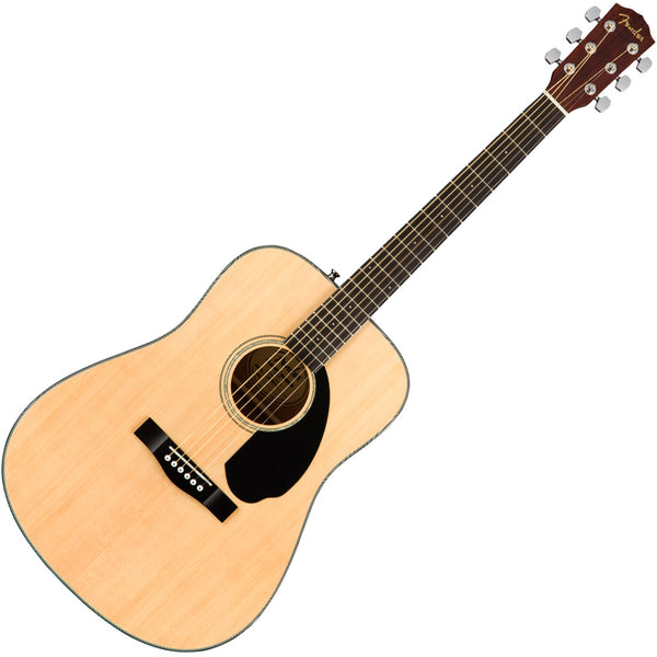 Fender CD60S Acoustic Guitar Pack Solid Spruce Top in Natural - 0970110021