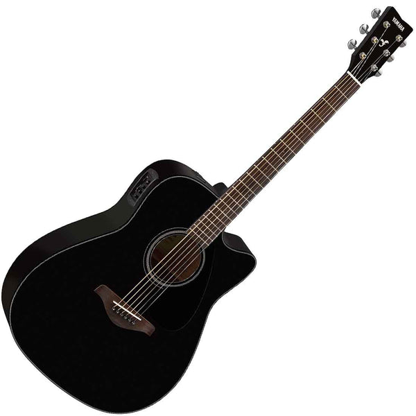 Yamaha FGX800CBL Solid Spruce Top Acoustic Electric in Black