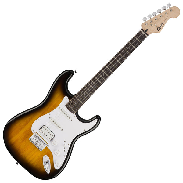 Squier 0371005532 Bullet Stratocaster Hard Tail HSS Electric Guitar in Brown Sunburst