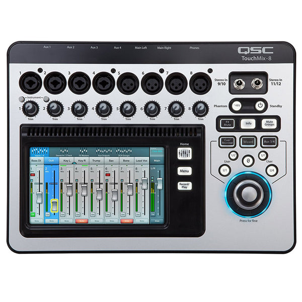 QSC TOUCHMIX8 TouchMix 12-Input Digital Non Powered Mixer