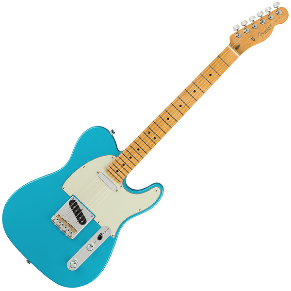 Fender American Professional II Telecaster Electric Guitar Maple Miami Blue w/Case- 0113942719