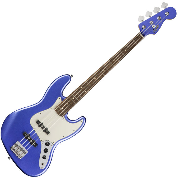 Squier Contemporary Jazz Bass Guitar Laurel in Ocean Blue Metallic - 0370400573
