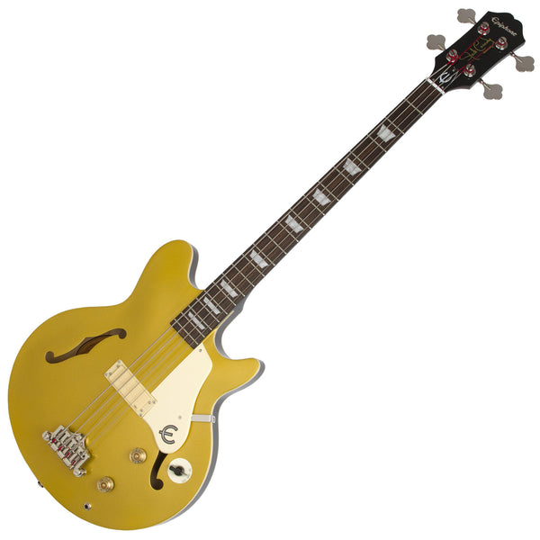 Epiphone Jack Casady Bass Guitar in Metallic Gold - EBJCMGCH
