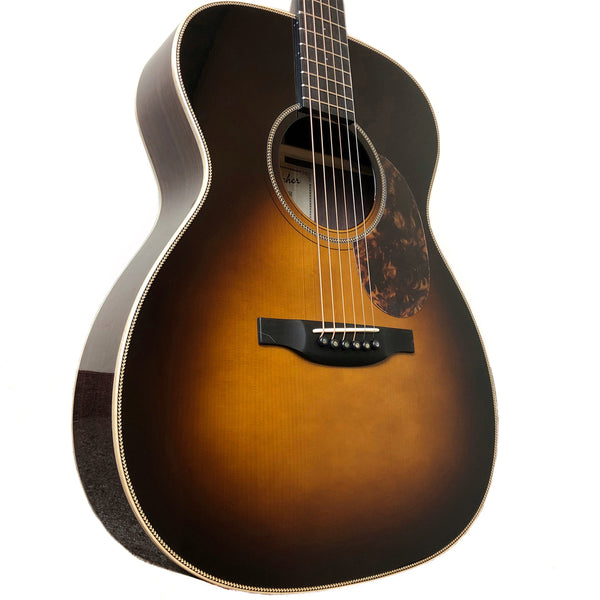 Boucher Bluegrass Goose OM Hybrid Rosewood Adirondack Sunburst Acoustic Guitar with Case - BG51B