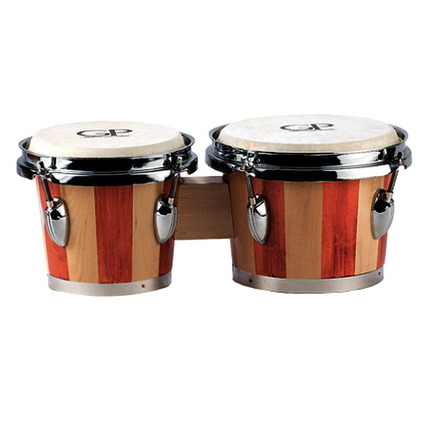 "Granite Percussion GPBONGO2 6"" & 7"" Laminated Bongo Set in Natural"