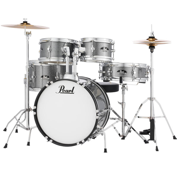 Pearl 5 Piece Roadshow Junior Complete Drum Kit w/Cymbals in Grindstone Sparkle - RSJ465CC708