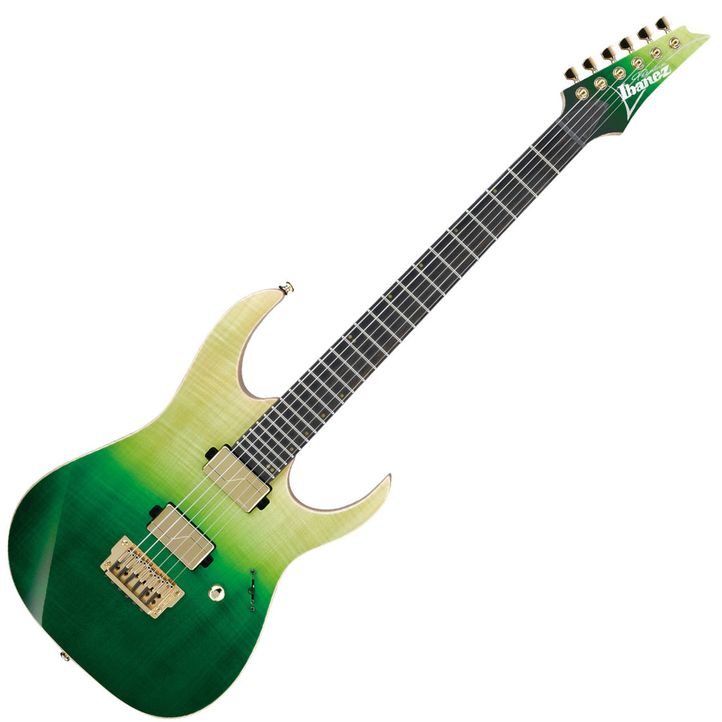 Ibanez LHM1TGG Luke Hoskin Signature Electric Guitar in Trans Green Gradation