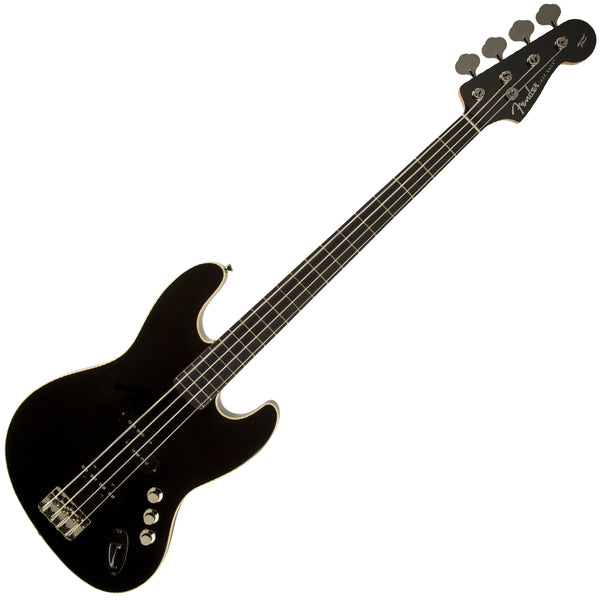 Fender 0254505506 Aerodyne Jazz Bass Guitar Rosewood Neck in Black