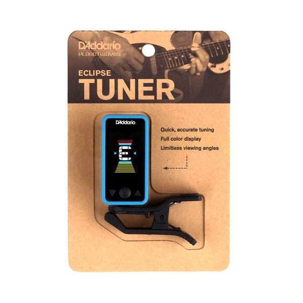 Planet Waves PWCT17BU Eclipse Chromatic Guitar Tuner in Blue
