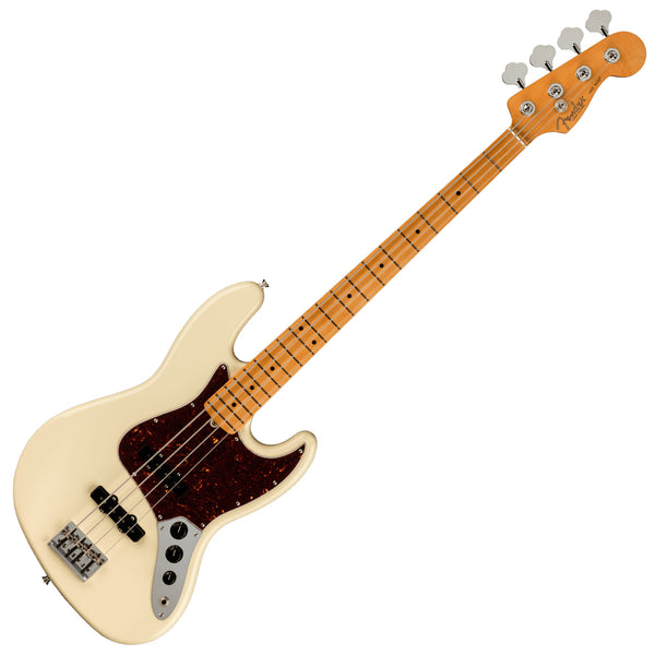 Fender American Professional II Jazz Bass Guitar Maple Olympic White w/Case - 0193972705
