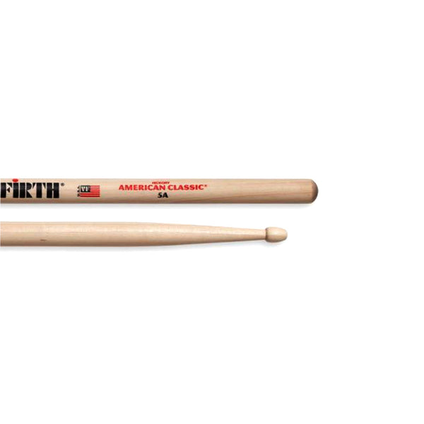 Vicfirth VF5A American Classic 5A Hickory Wood Tip Drum Sticks (Single Pair)